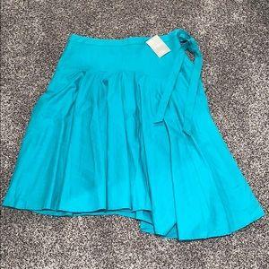 Anthropologie WOMANS blue skirt SZ.12
